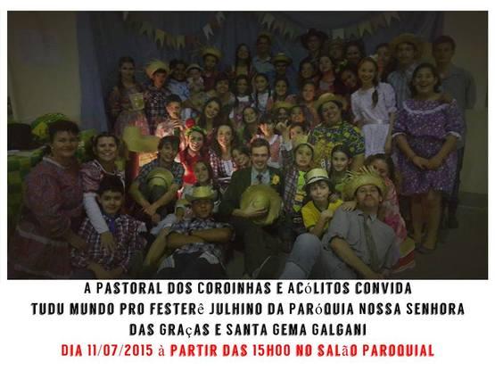 Festa Julhina - Pastoral de Coroinhas e Acólitos 11/07 - 15h