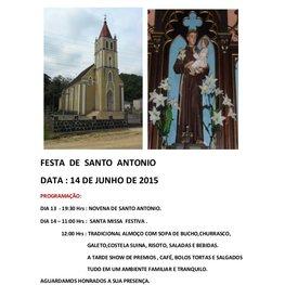 Festa de Santo Antonio na Capela Santo Antonio Colônia Antonio Prado - Almirante Tamandaré PR